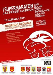 I Supermaraton Jastrzębi Łaskich - plakat