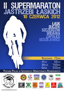 II Supermaraton Jastrzębi Łaskich - plakat