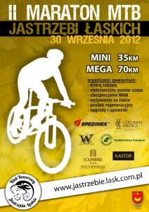 Plakat II Maratonu MTB Jastrzębi Łaskich