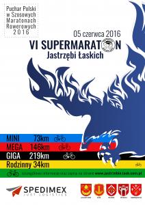 VI Supermaraton Jastrzębi Łaskich - plakat